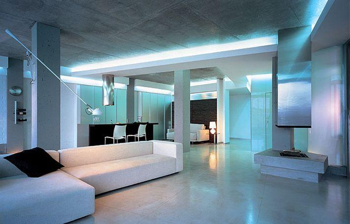 дизайн интерьера квартиры хайтек