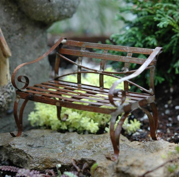 Jeremie Antique bench  Mini GardensMiniature. 77 best images about Mini Garden Furniture on Pinterest   Vines