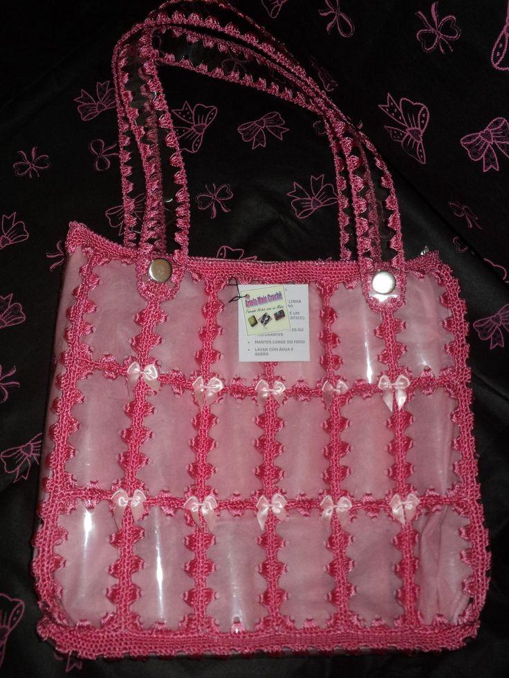 Bolsa De Mão Feita De Croche : Ideias sobre bolsa de garrafa pet no
