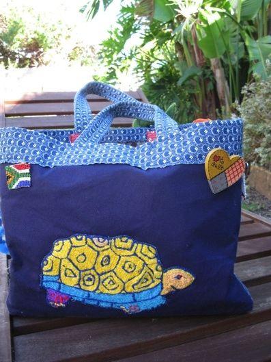 Same Shweshwe Bag on the other side. Sew cute!