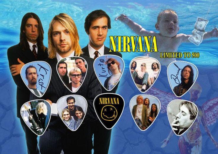 http://www.cliart.it/?df=131312846155&pid=12 Nirvana cobain set 10 plettri chitarra guitar picks gitarren plektrum rock l500 #Italia