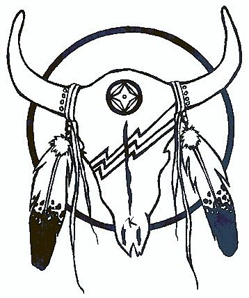 Skull/Feathers