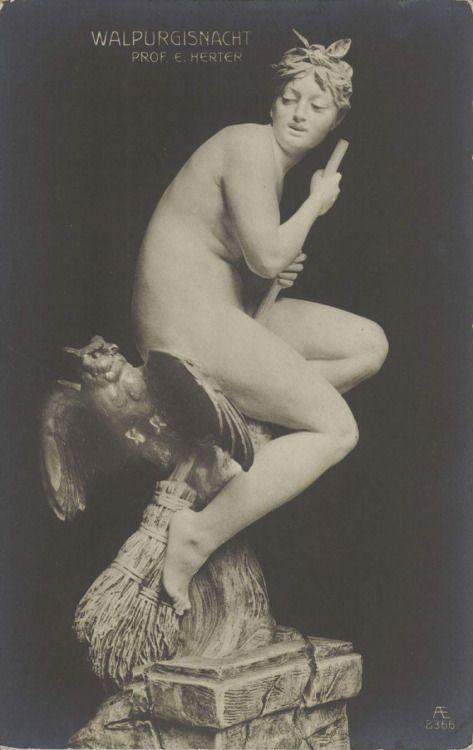 "boho-vania:  ""Come to the Sabbath ~ 1908 Postcard  """