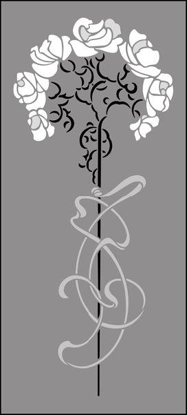 Art Nouveau Motif No 71 stencils, stensils and stencles