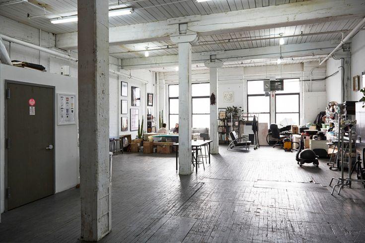 Henry Hargreaves' studio in Brooklyn / photo by Brandon Schulman