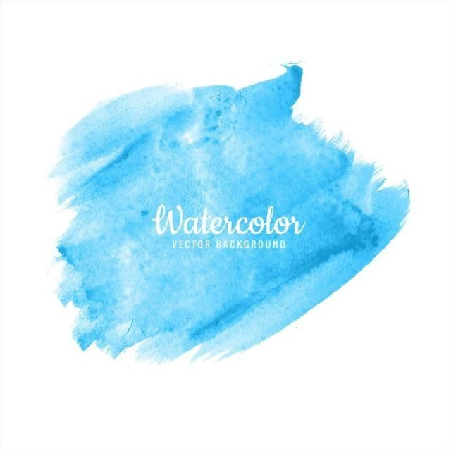 Abstract Bright Blue Watercolor Brush Stroke Design Brush Effect