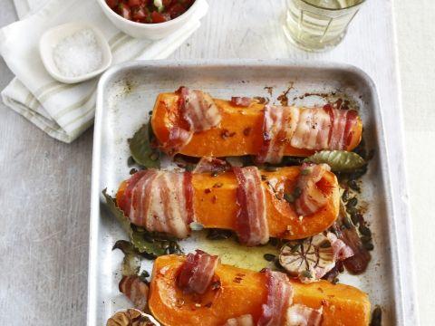 Geroosterde butternut met bacon - Libelle Lekker