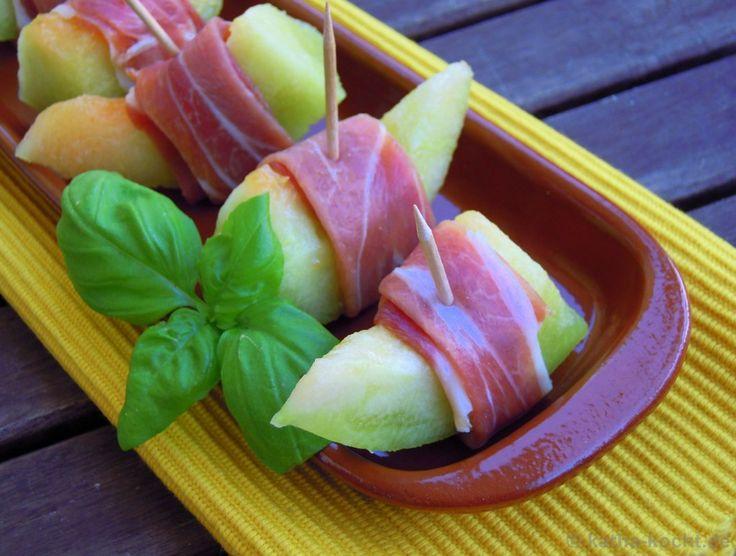 Tapas - Melone mit Parmaschinken - Katha-kocht!