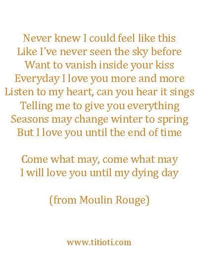 This is my favorite quote from Moulin Rouge
