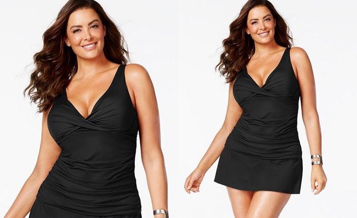 Anne Cole Plus Size Ruched Tankini Top - Swimwear - Plus Sizes - Macy's