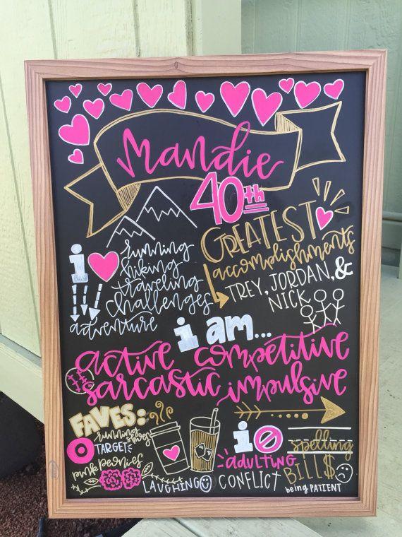 Birthday Chalkboard Smash Cake Prop Adult By