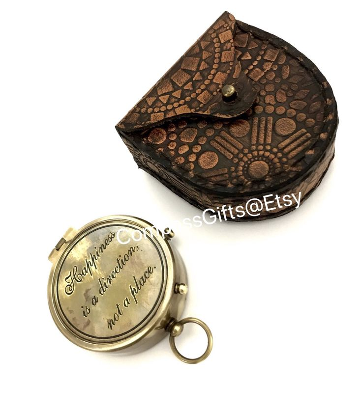 Marine  Brass Pocket Compass with Leather Case - Brass pocket compass - Gift by CompassGifts on Etsy https://www.etsy.com/uk/listing/582790667/marine-brass-pocket-compass-with-leather