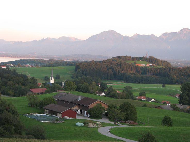 Prien am Chiemsee - Vue de Hotel Berggasthof Weingarten Weingarten 1-4 83253 Rimsting