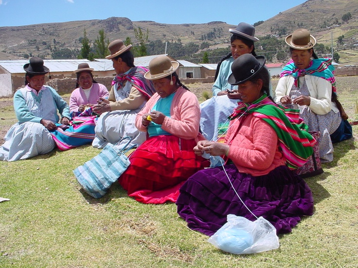 Artisans from CIAP #fairtrade producer group in Peru knitting our ever popular range of finger puppets. They are so talented.