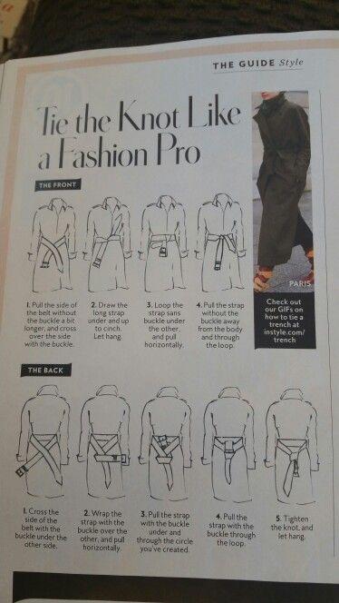 How to tie your trench coat's belt
