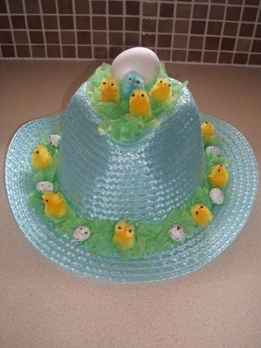 Easter Bonnet — Blue Easter Bonnet for a Boy (375x500)