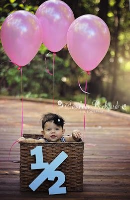 6 month photos. Half birthday session
