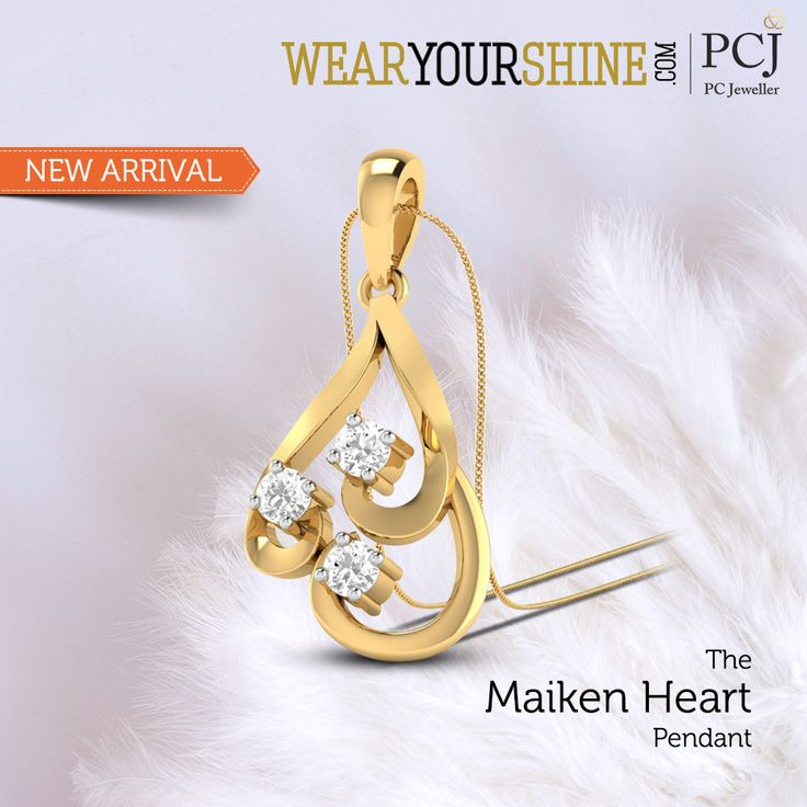 "You are the first and the last thing on my mind, Says every girl to our new arrival ""The Maiken Heart Pendant"" #InstaJewellery #jewelry #Jewellery #diamond #Love #Pendants #PCJeweller"
