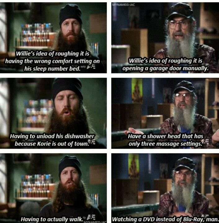 Jase & Uncle Si on Willie roughing it