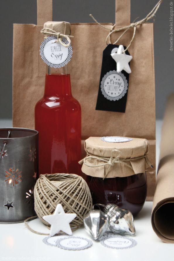 Dreierlei Liebelei: Last-Minute-Geschenke aus meiner Küche: Himbeer-Essig und Heidelbeer-Senf {Berry Christmas} + Freebie