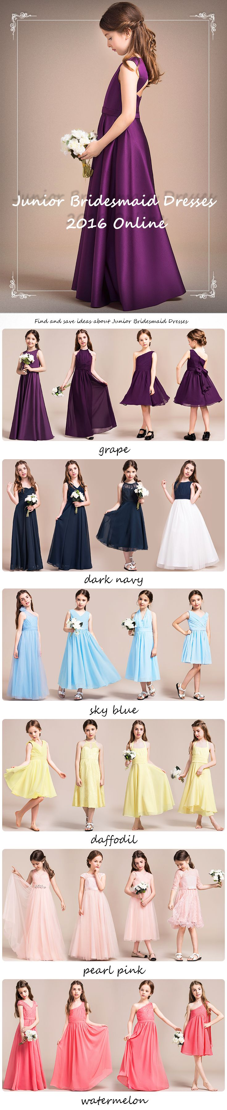 Junior Bridesmaid Dresses 2016 Online! Find and save ideas about Junior Bridesmaid Dresses! #Juniorbridesmaiddresses