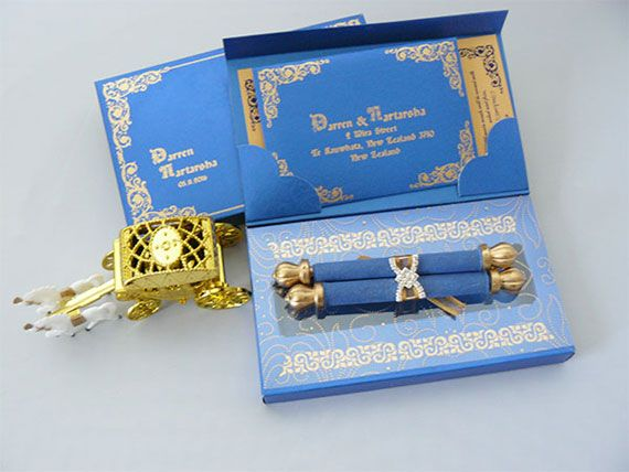 MINI SCROLL BOX INVITATION   CASTLE WEDDING INVITATION
