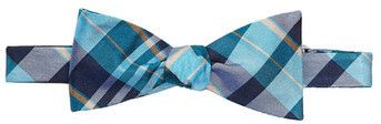$45, Blue Plaid Bow-tie: Original Penguin Tuttle Plaid Silk Bow Tie. Sold by Nordstrom Rack. Click for more info: https://lookastic.com/men/shop_items/110325/redirect