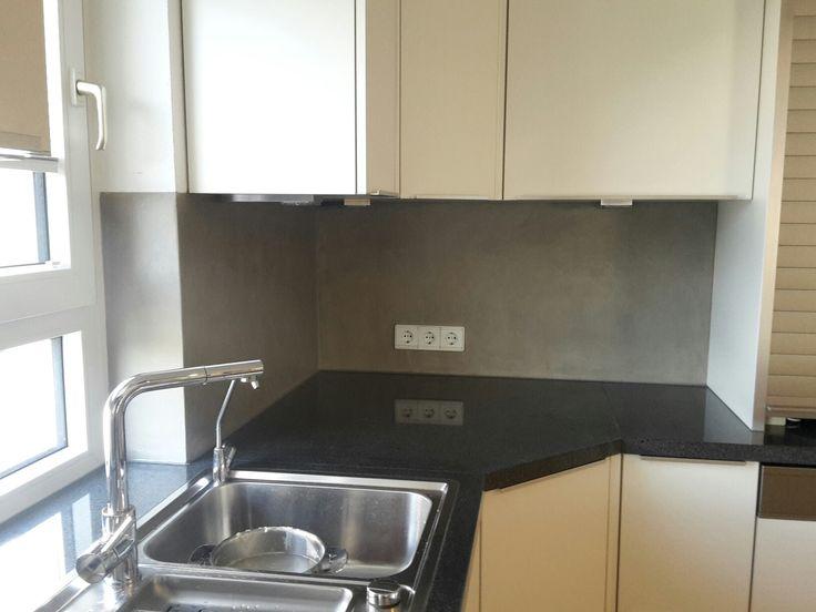 Beton Cire Spritzschutz in der Küche