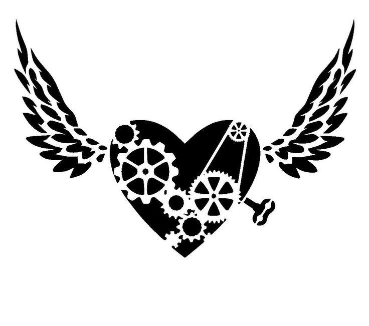 25 best steampunk stencils lovestencil ebay etsy images on pinterest steampunk heart stencil 2 craftfabricglassfurniturewall art gumiabroncs Gallery