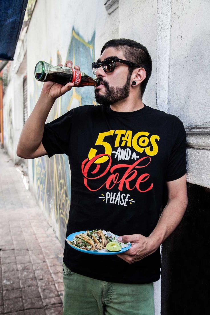 5-tacos-y-una-coca #tshirt design