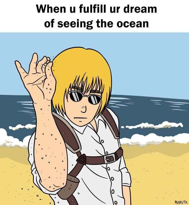 My friends and I walk around the track putting our hands in the air screaming OCEAN to commemorate Armin