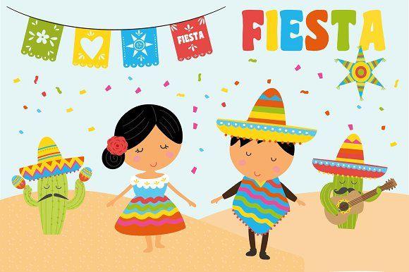 Fiesta Clipart By Poppymoondesign On Creativemarket Clip