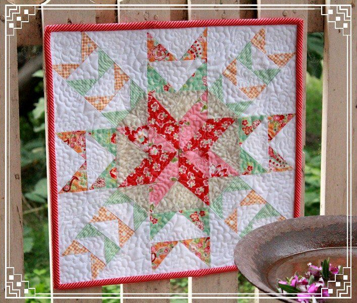 This lovely mini quilt is inspired by those talented eight legged spiders and the gorgeous webs they weave. It is such a delight to discover these...