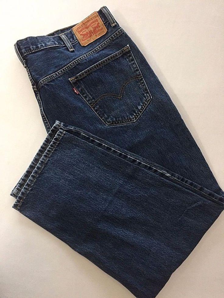 44 x 32 Levis 560 Jeans Blue Denim Comfort Fit Mens Levi Strauss  #Levis #Relaxed