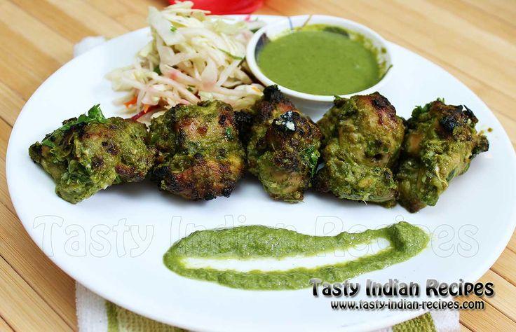 Hariyali Chicken Kabab (Green Chicken Kabab) Recipe
