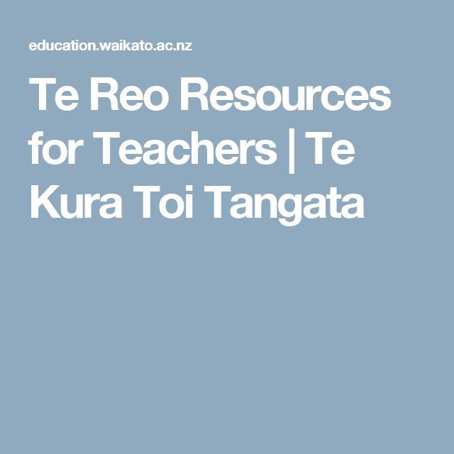 Te Reo Resources for Teachers | Te Kura Toi Tangata