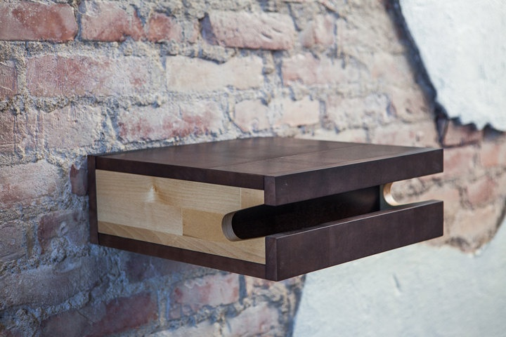 FIXA multi functional wood bike shelf - wall holder furniture mount. €110.00, via Etsy.
