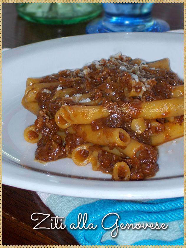 Ziti alla Genovese (typical Campania dish)