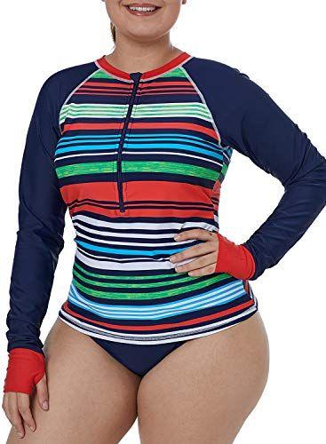 365cd5480a16e Happy Sailed Women Rashguard Long Sleeve UV Rash Guard Shirt Swimwear Rash  Guard Top,#Rashguard, #Long, #Sleeve, #Happy