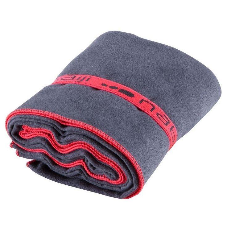 NABAIJI  Microfibre Towel High Absorbent Swimming Travel Sport 80x130cm GRAY  #Nabaiji