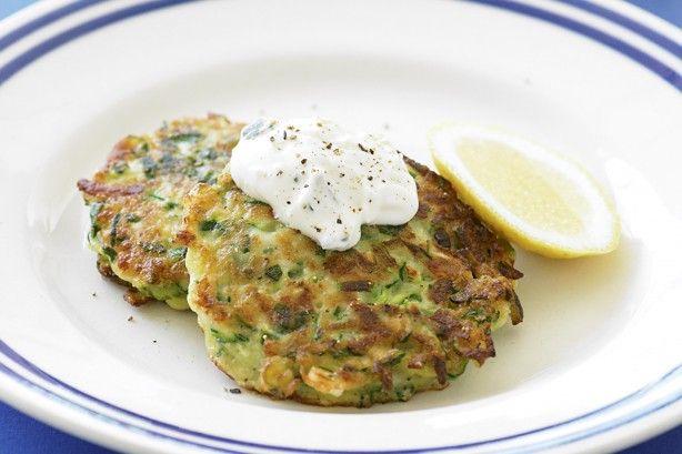 Zucchini And Haloumi Fritters Recipe