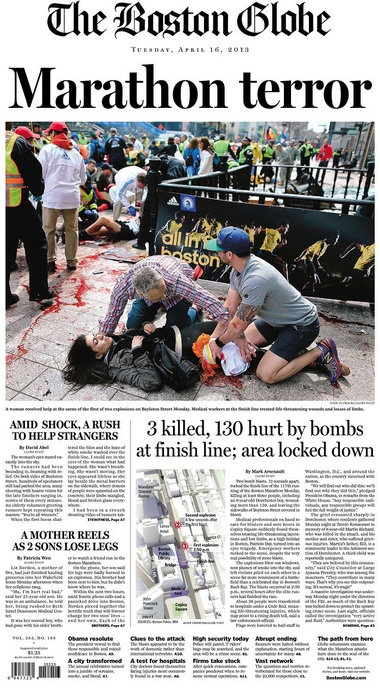 Another terrible event for the Boston Marathon Bombings, those two boys oughta be ashamed of themselves and what kind of people like that can take lives?