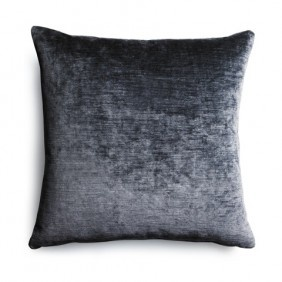 the sofa.com scatter cushion in Storm crushed Florentine velvet - $60
