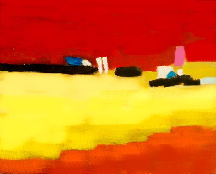 "Origianl Abstract Painting.  The Artwork is acryl on canvas. ""Field Feelings"" Acryl on Canvas  30x50"