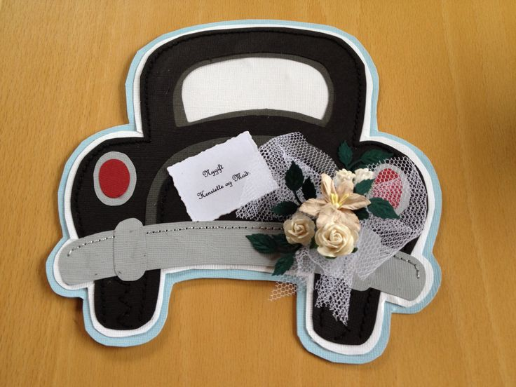 Wedding card, handsewing