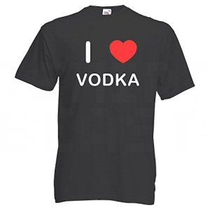 I Love Vodka – Noir Extra Large T-Shirt