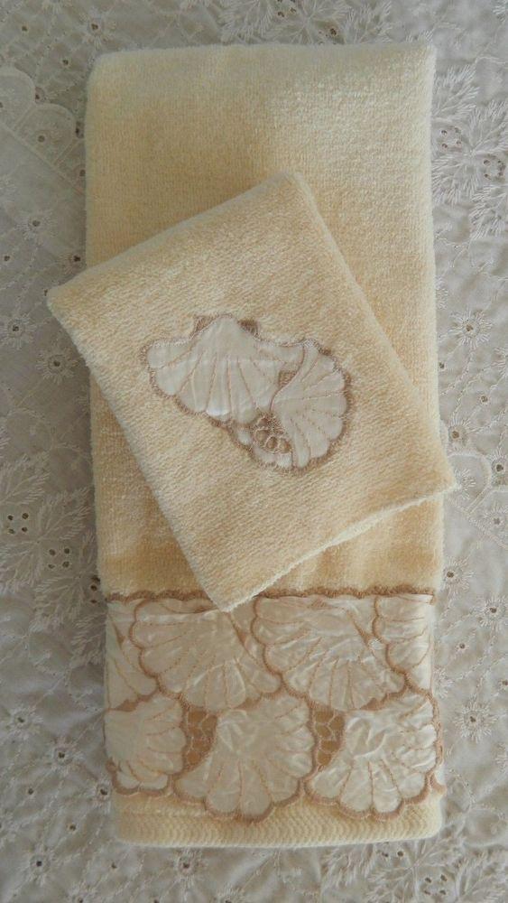 j abouchar sons hand wash cloth bath towel set cream sea