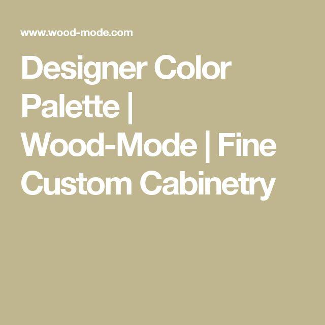 Designer Color Palette | Wood-Mode | Fine Custom Cabinetry
