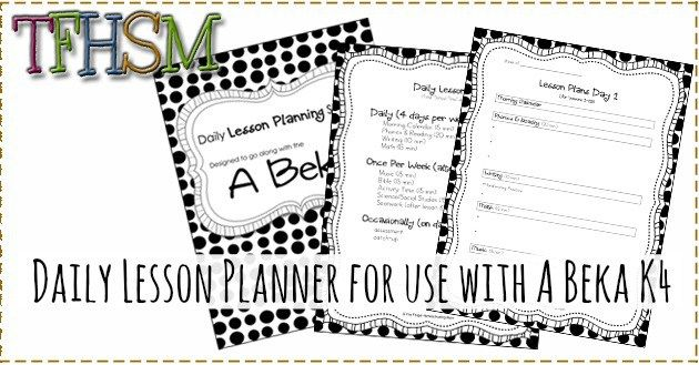 A Beka Lesson Planning Sheets Schedule and Planner