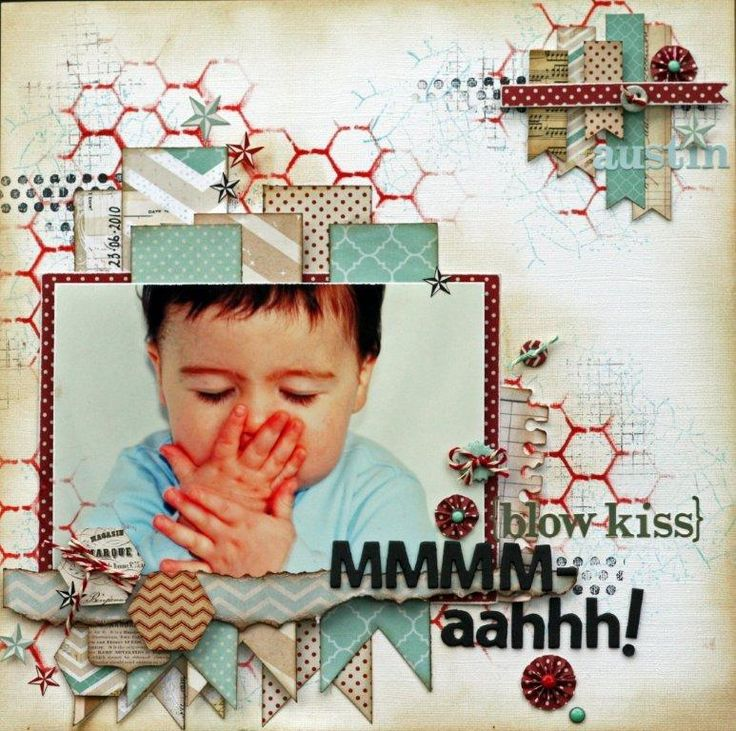 (blow kiss) MMM-aahhh! - Scrapbook.com  So sweet - another creation by Rebecca Beattie.